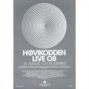 Plakat Høvikodden live 2008 (sølv)