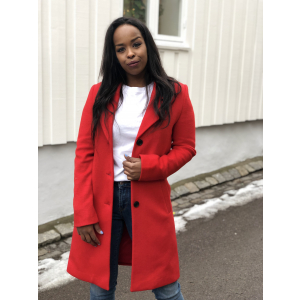 Sasja wool coat - true red
