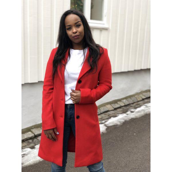 Sasja wool coat - true red