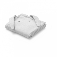LIEWOOD - MUSLIN KLUT 2-PK RABBIT DUMBO GREY