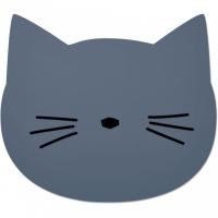 LIEWOOD - SPISEBRIKKE CAT BLUE WAVE