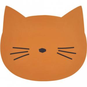 LIEWOOD - SPISEBRIKKE CAT MUSTARD