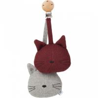 LIEWOOD - VOGNLEKE CAT GREY MELANGE/BURGUNDY