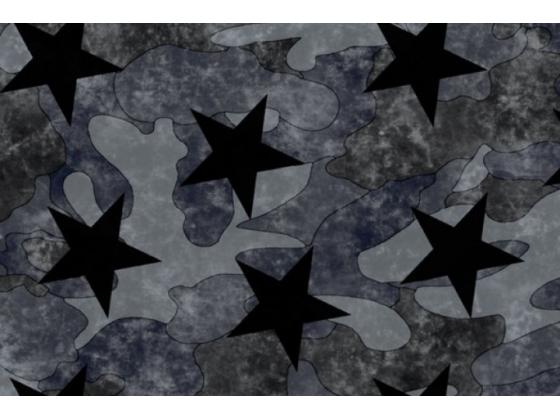 French terry med stjerner