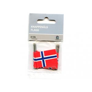 KAKEFLAGG M/KNAPPENÅL 10 STK
