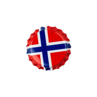 Flaskekapsler Norges flagg 26mm 100 stk