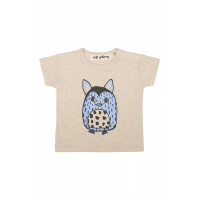 SOFT GALLERY - ASHTON T-SHIRT FURRY CREAM MELANGE