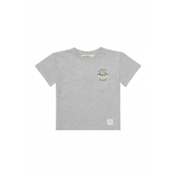 SOFT GALLERY - ASGER T-SHIRT UFO GREY MELANGE