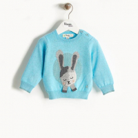 THE BONNIE MOB - BUNNY SWEATER PALE BLUE