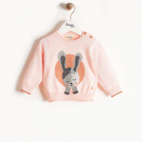 THE BONNIE MOB - BUNNY SWEATER PALE PINK