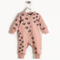 THE BONNIE MOB - HIPHOP PLAYSUIT PINK PAWS
