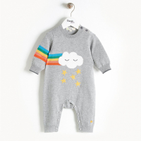 THE BONNIE MOB - RAINBOW PLAYSUIT GREY