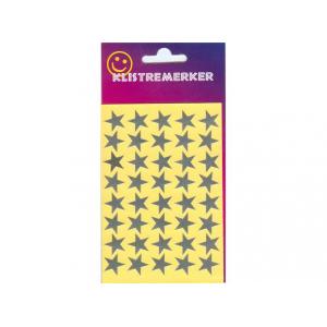 Stickers Sølvstjerne 14mm 80stk