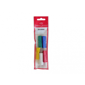 FC blyantgrep trekantet viskelær Pose med 5 ass farger