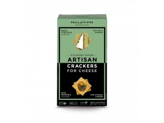 Artisan Crackers for Cheese: Basil & Quinoa and Hot Paprika