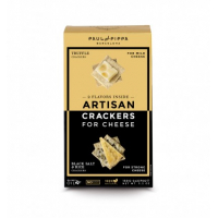 Artisan Crackers for Cheese: Truffle, Black Salt & Rice