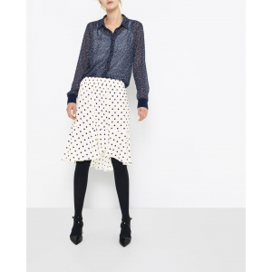 Woven Skirt With Dots