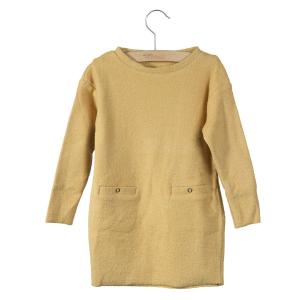 LITTLE HEDONIST - DRESS LENA PALE GOLD