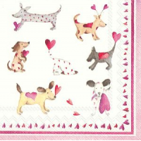 """Love heart dogs"" kaffe"