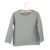 LITTLE HEDONIST - SWEATER JONATHAN GREY MELANGE