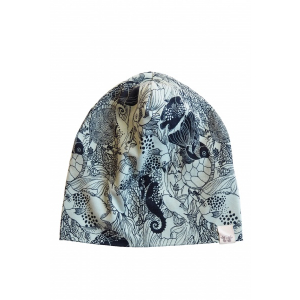 BY HERITAGE - BEANIE PRINT NAVY BLUE