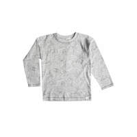 BY HERITAGE - TED LS T-SHIRT PRINT WARM GREY