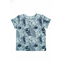 BY HERITAGE - TOM T-SHIRT PRINT NAVY BLUE