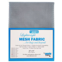Pewter Lightweight Mesh Fabric  18x54in