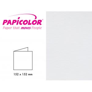 Papicolor Doble kort 152x152mm – 930 Hvit – 6stk