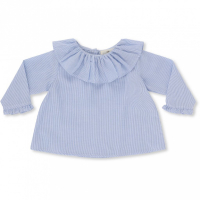 KONGES SLØJD - UNAMI COLLAR BLOUSE STRIPED NAVY/NATURE