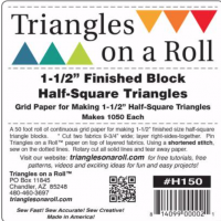 Triangles on a Roll 1-1/2in Half Square 50ft Roll