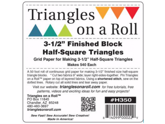 Triangles on a Roll 3-1/2in Half Square 50ft Roll