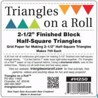 Triangles on a Roll 2-1/2in Half Square 50ft Roll