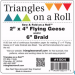 Sew & Fold Flying Geese / Braids On A Roll 2in x 4in x 50ft Roll