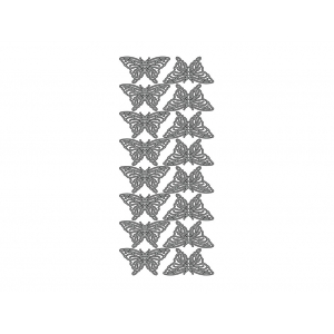 Klistremerker sommerfugl sølv