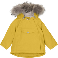 MINI A TURE - WANG FUR VINTERJAKKE BAMBOO YELLOW