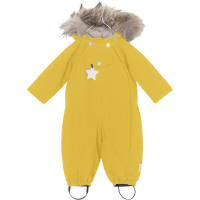 MINI A TURE - WISTI FUR VINTERDRESS BAMBOO YELLOW