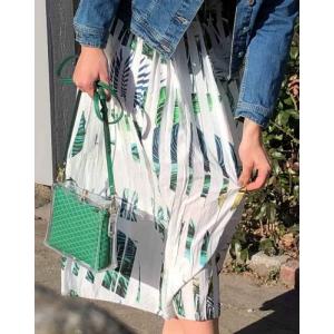 Palm plisse skirt