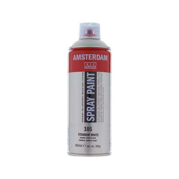 Amsterdam Spray 400ml – 105 Titanium white