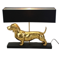 Lampe - dachshund (gull/svart)