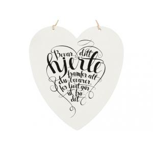 Metallskilt hjerte Bevar ditt hjerte 2 Str: 16x17,5cm
