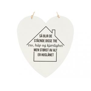 Metallskilt hjerte Huslånet Str: 16x17,5cm