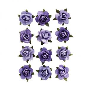 Miniroser papir Purple 12stk