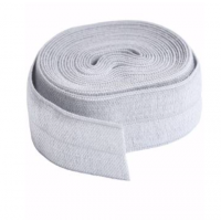 Pewter Fold-over Elastic 3/4in x 2yd