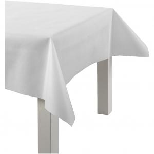 Duk av imitert stoff, hvit, B: 125 cm, 70 g/m2, 10m