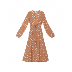 Delicat belted dress - polka dots