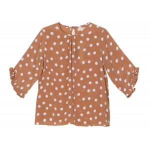 Delicate top - polka dots