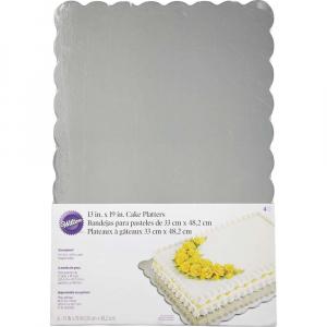 Kakeplater sølv, 33x48 cm, 1 stk