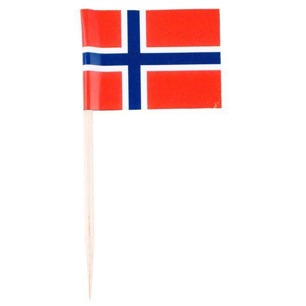 FLAGG NORSK MED TREPINNE, 10PK