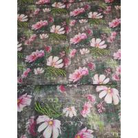 Modal, rosa blomster på grå bunn
